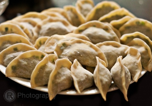 Chinese Chive Dumplings (Jiaozi) with Shrimps and Scallops