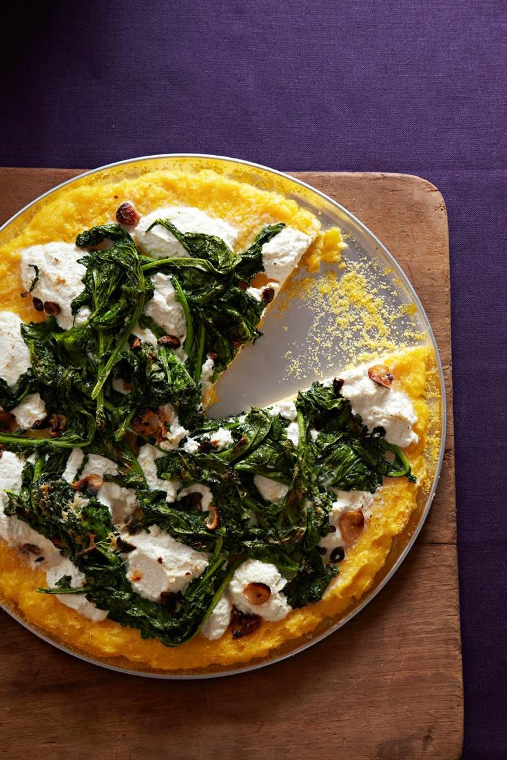 Polenta Pizza from familycircle.com #myplate #veggies