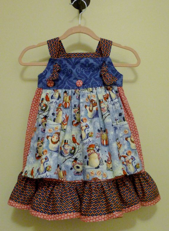 Knot jumper removable apron dress baby christmas dress baby dress