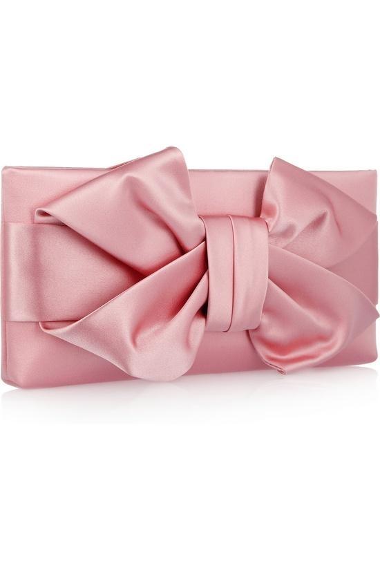 Bow Silk-satin Clutch