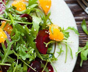 Roasted Beet and Orange Salad with Chocolate Hazelnut Vinaigrette
