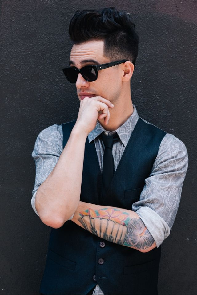 bridal hairstyles with headband : brendon urie