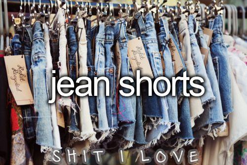 Jean shorts.