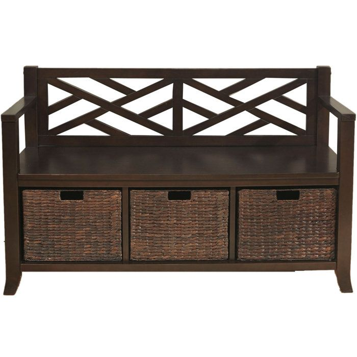 Entryway Storage Bench Home Pinterest