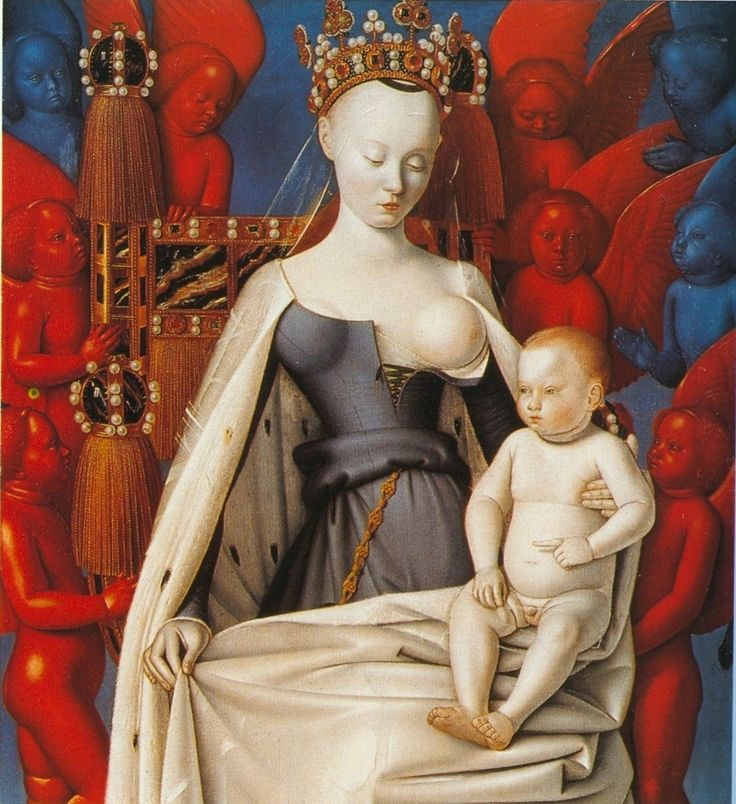 Madonna Surrounded by Seraphim and Cherubim c.1452, by Jean Fouquet (1420–1480)