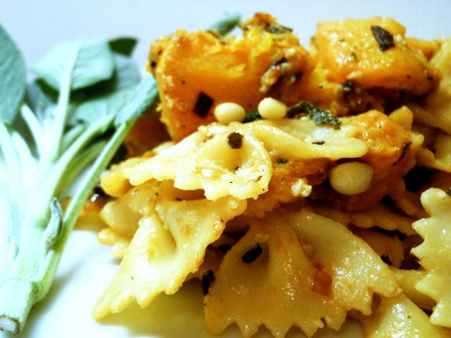 Pasta With Butternut Squash, Sage, And Pine Nuts Recipe ...