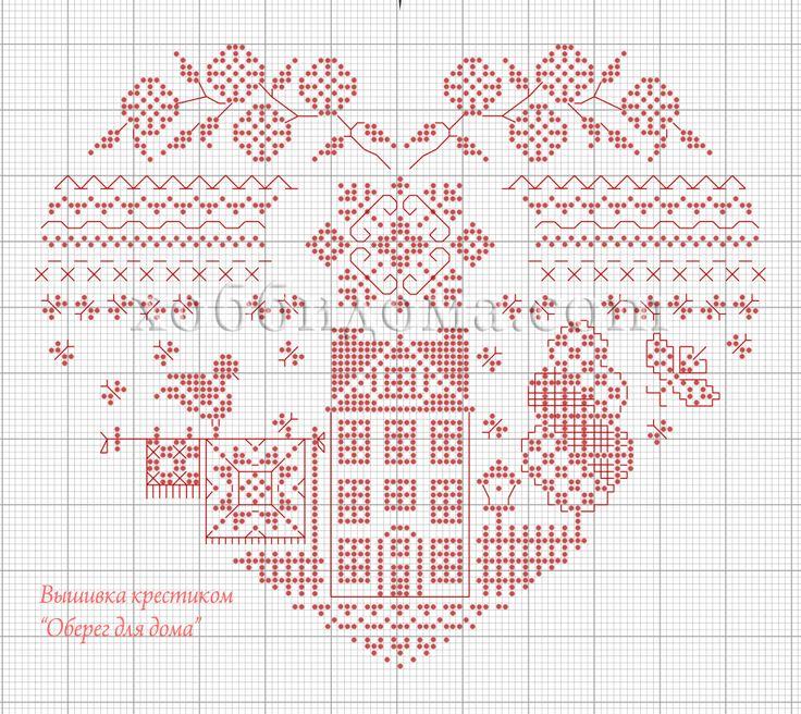 Схема вышивки крестом обереги для дома 34