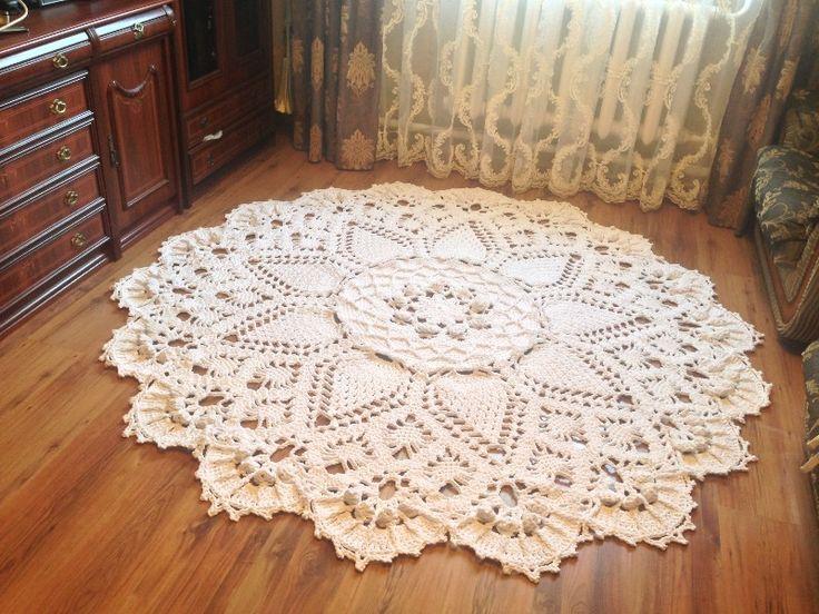 Вязания ковров крючок