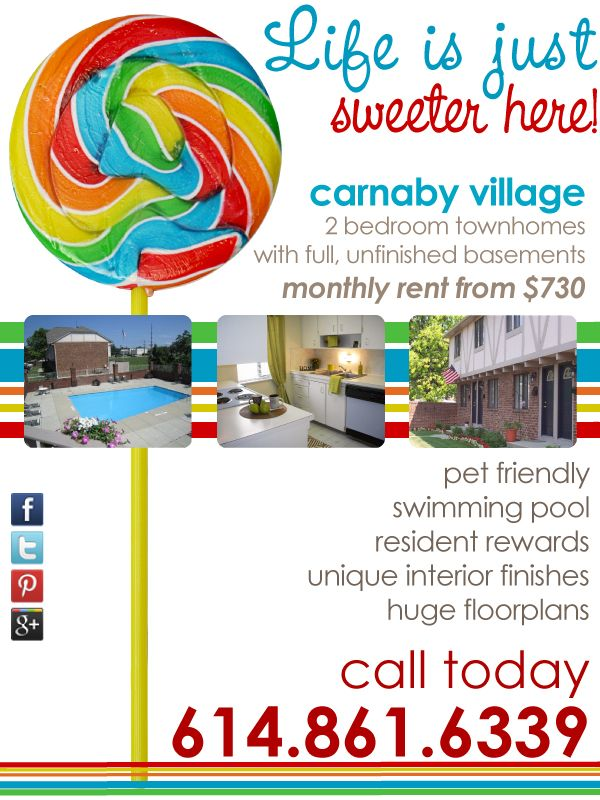 Carnaby Village June 2012 Apartment Marketing Pinterest