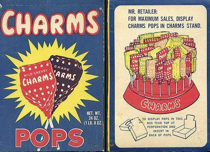 Image result for vintage ad charms pops'
