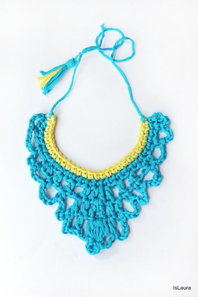 Crochet Patterns Jewelry : Collana crochet royal necklace Crochet Pinterest