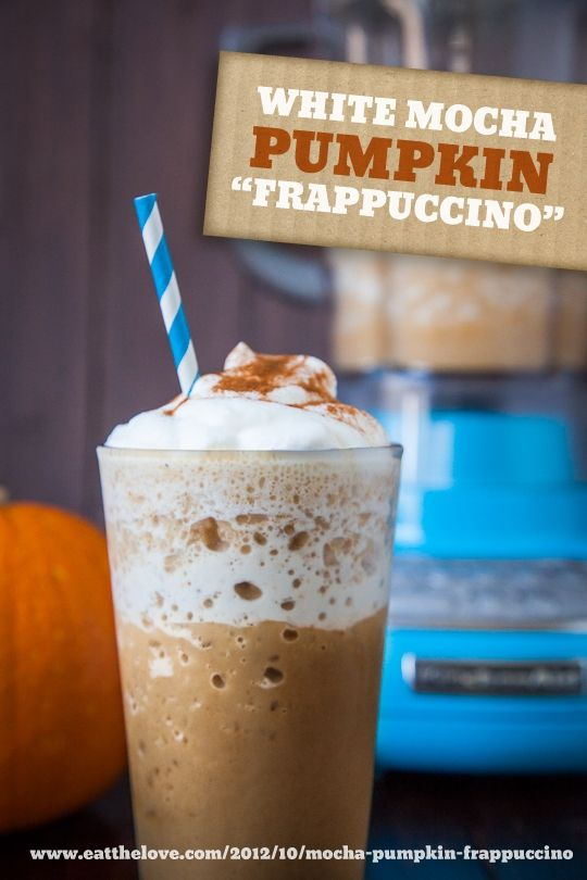 "White Mocha Pumpkin ""frappuccino"" Iced Blended Drink (Naturally ..."