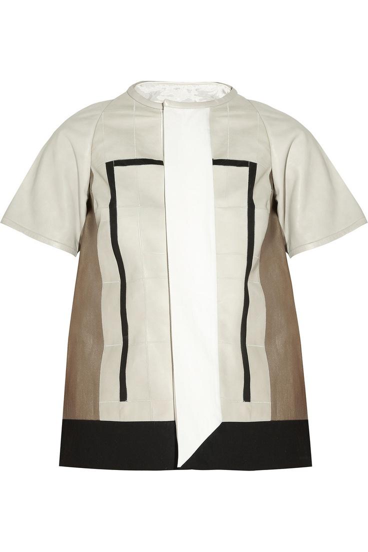 Paneled leather jacket #RickOwens #DesignerSpotlight