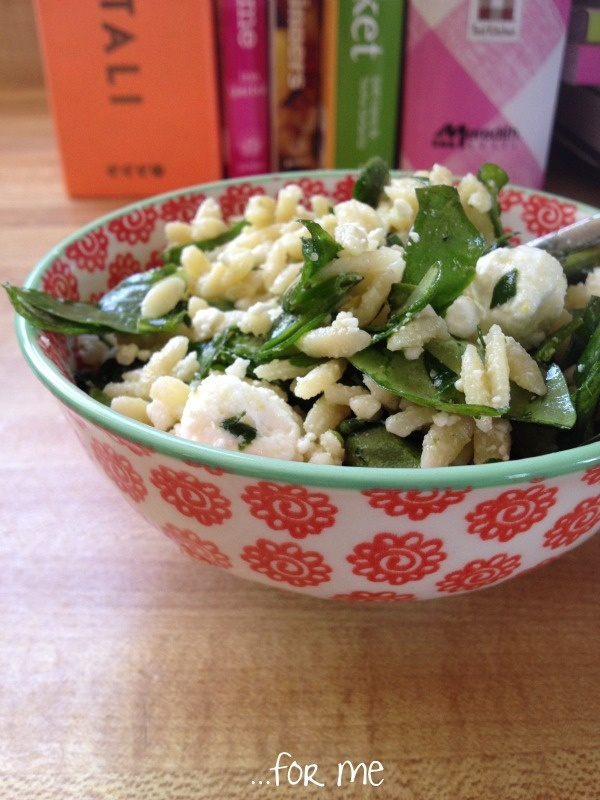 Lemon Orzo Salad With Asparagus, Spinach, And Feta Recipe — Dishmaps