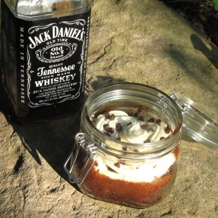 Chocolate Cake in a Jar (better served with a shot of J.D. as ...