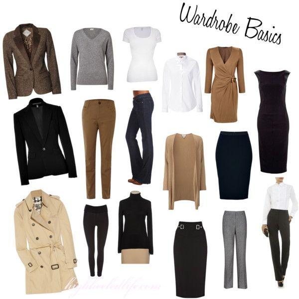 Wardrobe Basics by fallingoffahighheeledlife, via Polyvore