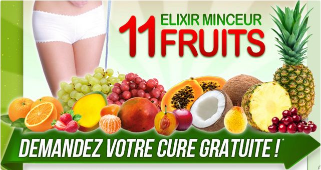 Elixir Minceur 11 fruits is natural blend available in the form of syrup. The product help you lose weight with ease as it directly acts on your body fat and burn away. With this you will feel completely transformed.  http://elixirminceur.com/