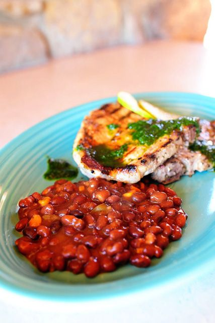 Cuban Pork Chops With Bush's Black Bean Fiesta Grillin ...