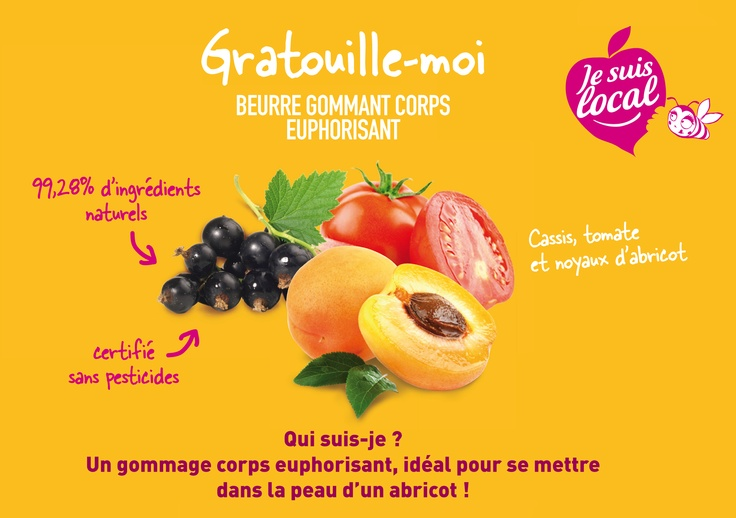 Discover Tickle Me and get a skin as soft as an apricot skin! #crueltyfree #bodyscrub #fruit #madeinfrance