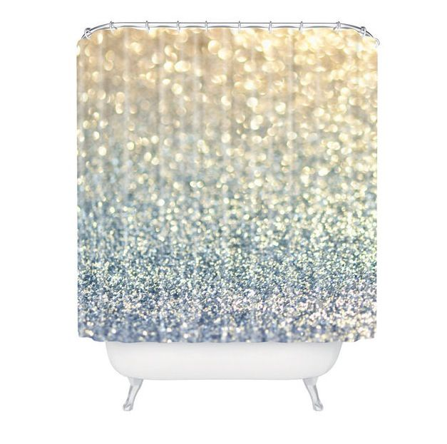 sparkly shower curtain for the home pinterest