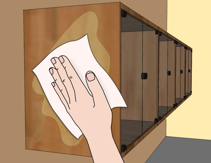 How to clean wood kitchen cabinets via wikihow com