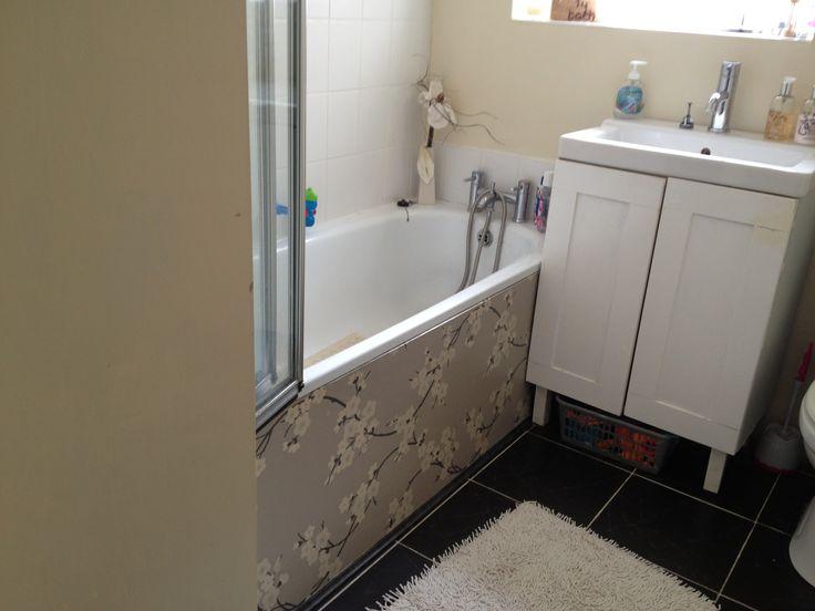 Diy bath panel bathroom ideas pinterest for Panelled bathroom ideas