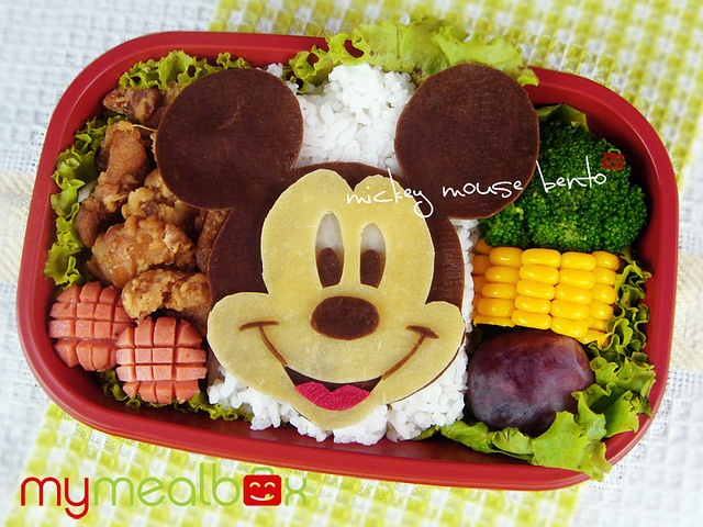 Mickey Mouse bento by mymealbox, via Flickr