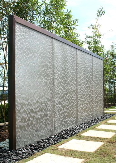 water wall in the garden
