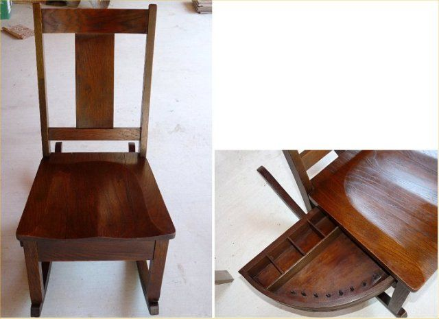 antique sewing rocking chair  ... (Antiques): Armless Sewing Rocker ...