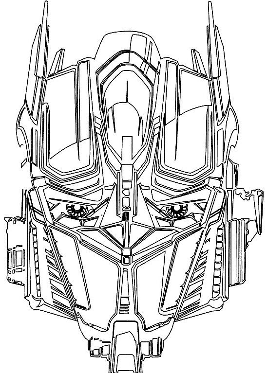 optimus prime face coloring pages coloring pages