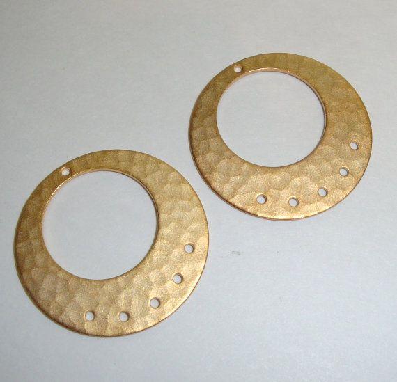 Earring findings matte gold hoops