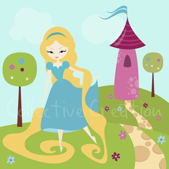 Rapunzel / Tangled Digital Clipart - Personal and Commercial Use ...: pinterest.com/pin/6262886955080483
