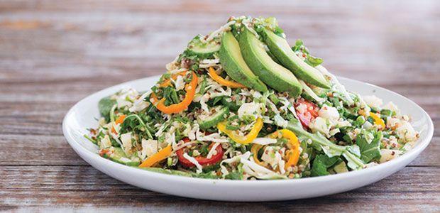 Sharky's Quinoa Salad Red & White Quinoa, Organic Baby Spinach, Jicam...