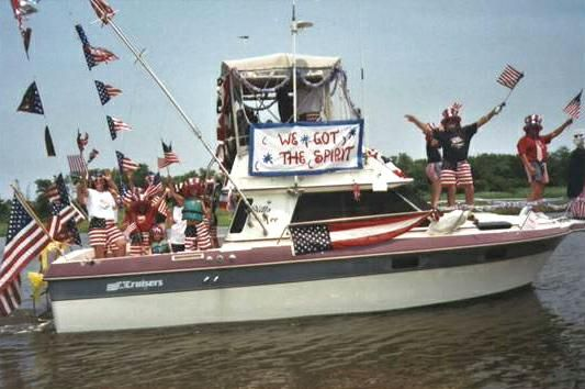 fourth of july boat decorations