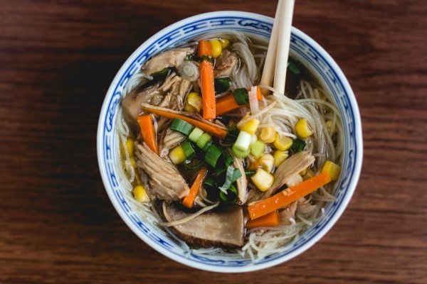 Chicken Noodle Soup with an Asian Twist