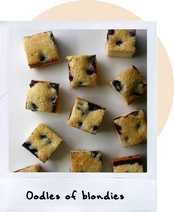 Blondies with blueberries and white chocolate...mmmmmmm