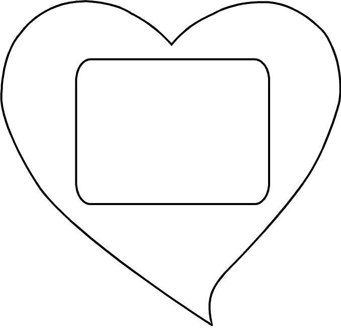 valentine photo template