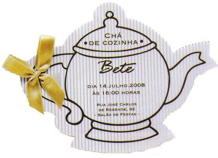 O chá está servido. Uma boa ideia para o convite para o seu chá de panela.