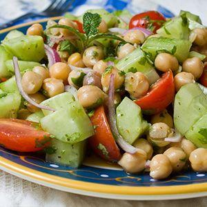 Greek Garbanzo Bean Salad - Bota Box Recipes