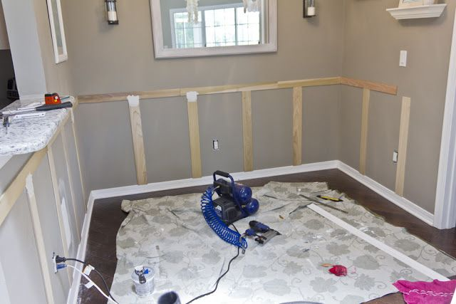 Dining room wainscoting = Done