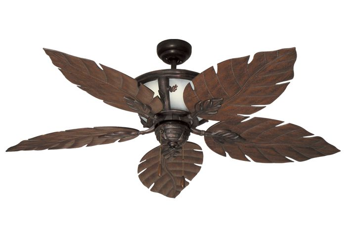 Ceiling fan light with leaf fan blades my special places decoration - Leaf blade ceiling fan with light ...
