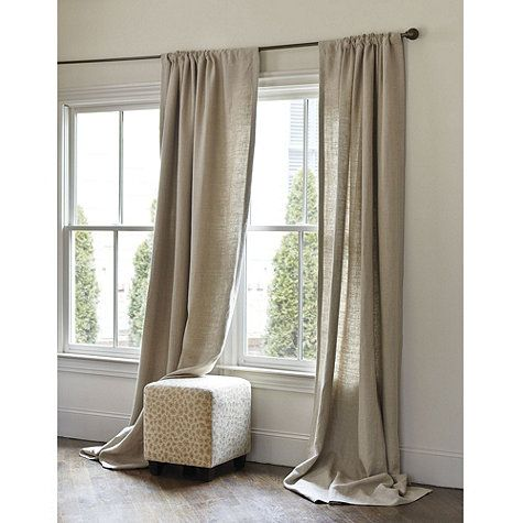 Beige And White Striped Curtains French Linen Script Curtain