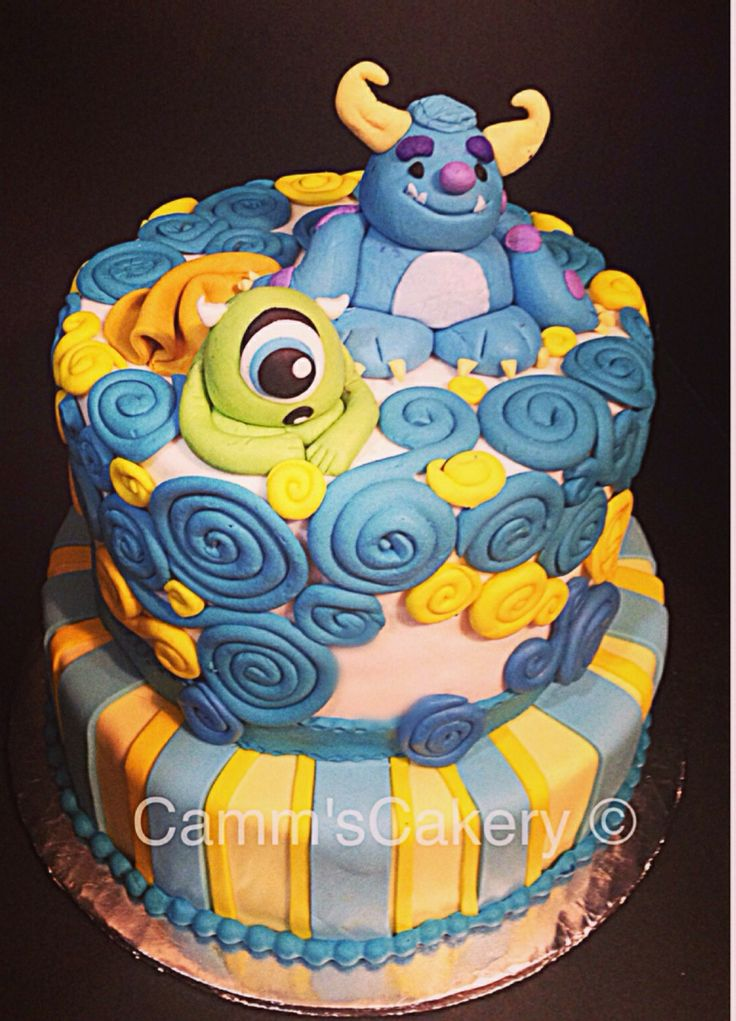 baby monsters inc baby shower cake by camm 39 s cakery handmade toppers