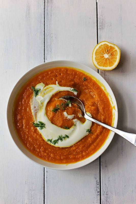 Roasted Carrot and Fennel Soup with Turmeric