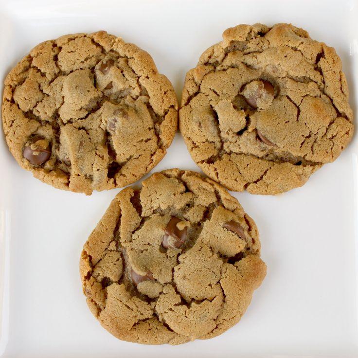 Five ingredient peanut butter chocolate chip cookies: PB, brown sugar ...