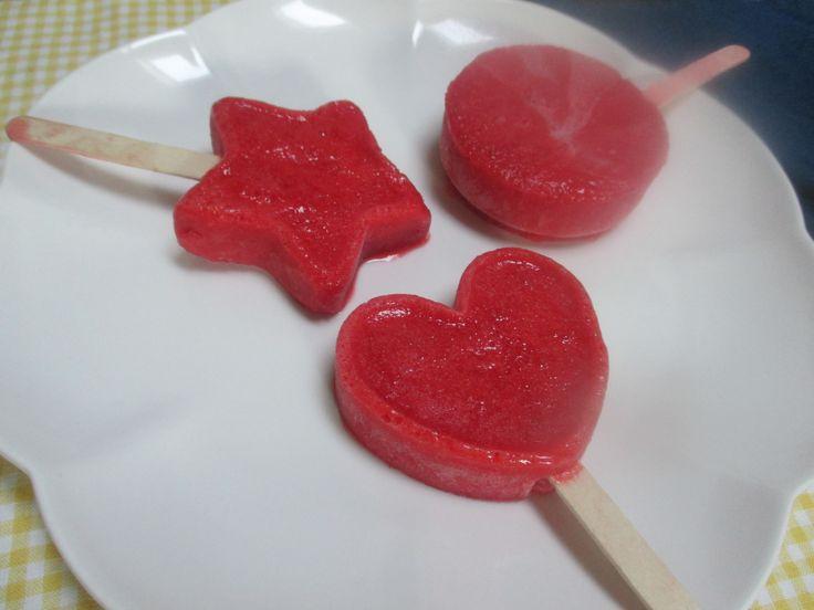 ... Challenge: Strawberry Ice Pops | Dessert ~ Frozen Popsicles