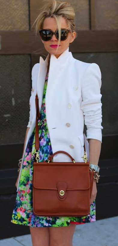 White Blazer:Fashion Show