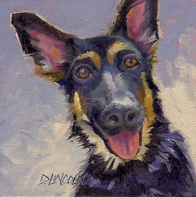 Could i be any cuter german shepherd dog painting painting by