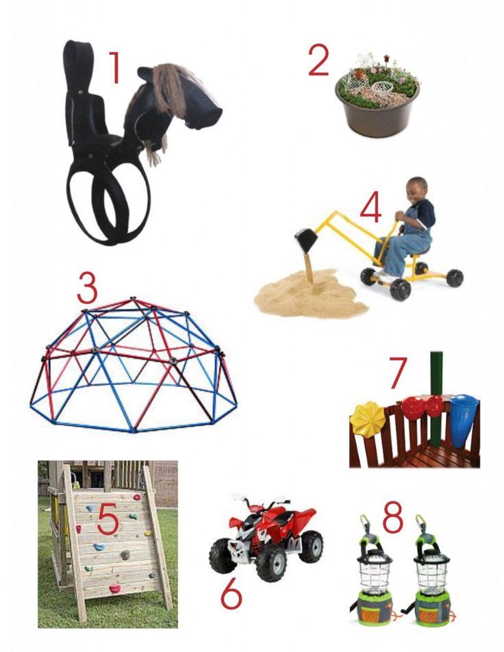 Fun outdoor toys!  Outdoor play  Pinterest