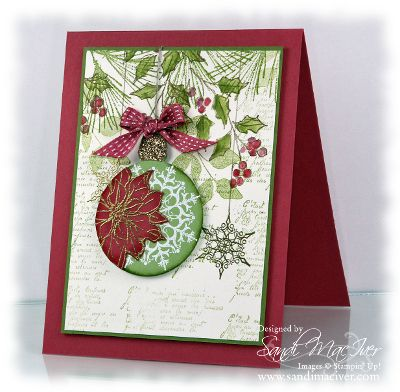 watercolor winter by stampin up